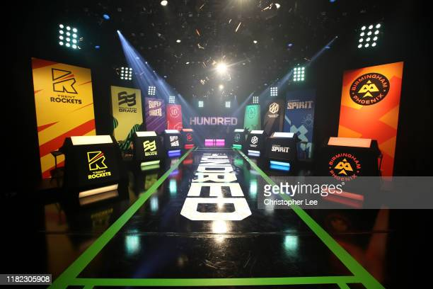 General view inside the studio ahead of The Hundred Draft at Sky Studios on October 20, 2019 in Isleworth, England.