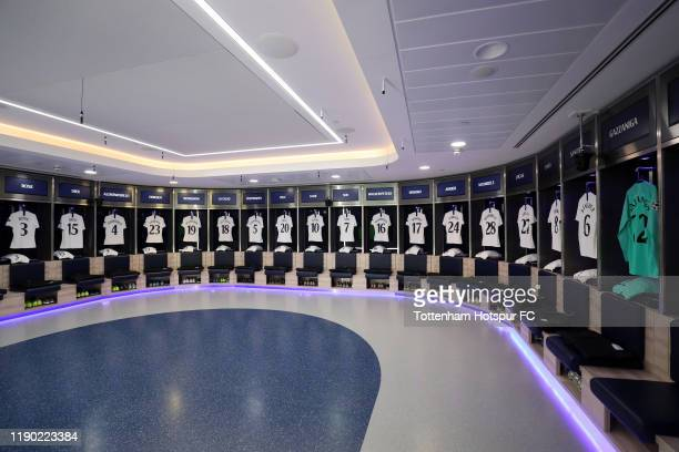 General view inside the Tottenham Hotspur dressing room prior to the UEFA Champions League group B match between Tottenham Hotspur and Olympiacos FC...