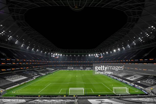 General view inside the Tottenham Hotspur stadium during the UEFA Europa League Group J stage match between Tottenham Hotspur and PFC Ludogorets...