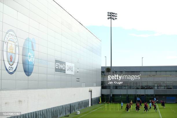 A general view inside the training ground during a training session ahead of their Group F match against TSG Hoffenheim in the UEFA Champions League...