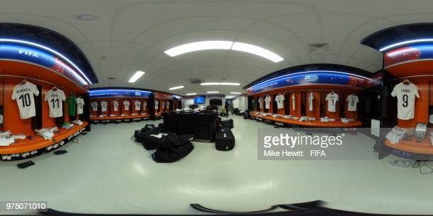 General view inside the Uruguay dressing room prior to the 2018 FIFA World Cup Russia group A match between Egypt and Uruguay at Ekaterinburg Arena...