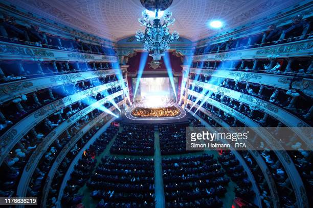 A general view inside the venue during The Best FIFA Football Awards 2019 at Teatro alla Scala on September 23 2019 in Milan Italy