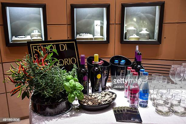 General view inside Vhernier Shop during 'La Vendemmia 2015' The World's Finest Wine Lifestyle Experience on October 8 2015 in Milan Italy