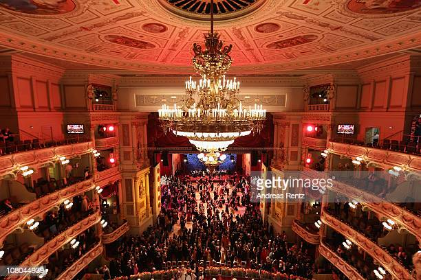 A general view is pictured during the Semper Opera ball on January 14 2011 in Dresden Germany