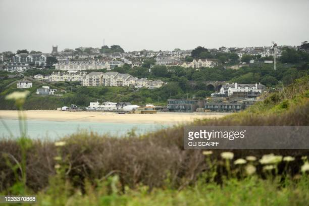 General view is pictured of Carbis Bay, Cornwall on June 10 ahead of the three-day G7 summit being held from 11-13 June. - G7 leaders from Canada,...