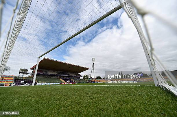 A general view is pictured prior to kickoff during the UEFA Women's Champions League Final between 1 FFC Frankfurt and Paris St Germain at...