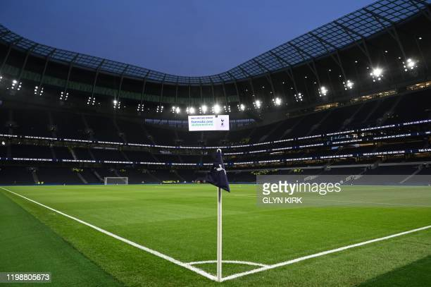 A general view is pictured prior to the English FA Cup fourth round replay football match between Tottenham Hotspur and Southampton at Tottenham...