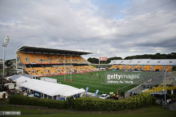 General view is seen ahead of the round 15 NRL match between the New Zealand Warriors and the Penrith Panthers at Mt Smart Stadium on June 30, 2019...