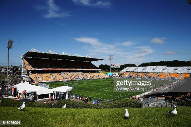 General view is seen ahead of the round one NRL match between the New Zealand Warriors and the Newcastle Knights at Mt Smart Stadium on March 5, 2017...