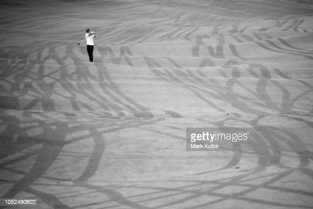 A general view is seen as a competitor hit from the fairway during the Golf Open of the Invictus Games at The New South Wales Golf Club on October 19...
