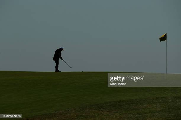 A general view is seen as a competitor putts during the Golf Open of the Invictus Games at The New South Wales Golf Club on October 19 2018 in Sydney...