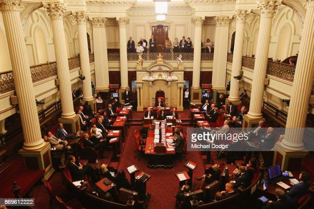 A general view is seen as MP's vote on November 3 2017 in Melbourne Australia Victoria's lower house passed the historic voluntary euthanasia laws on...