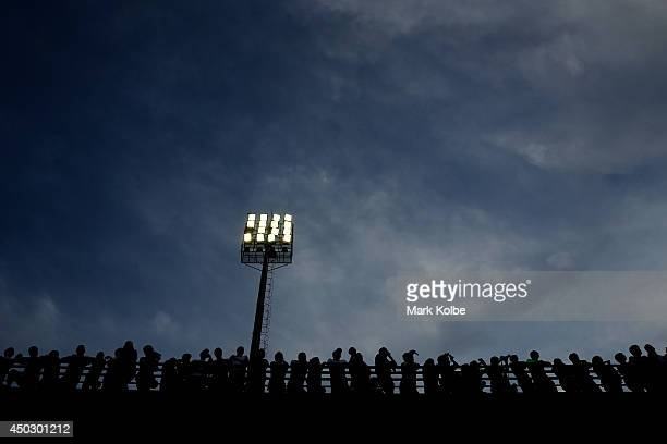 A general view is seen as the crowd watches on during a Japan training session held at Walter Riberio Stadium on June 8 2014 in Sorocaba Sao Paulo
