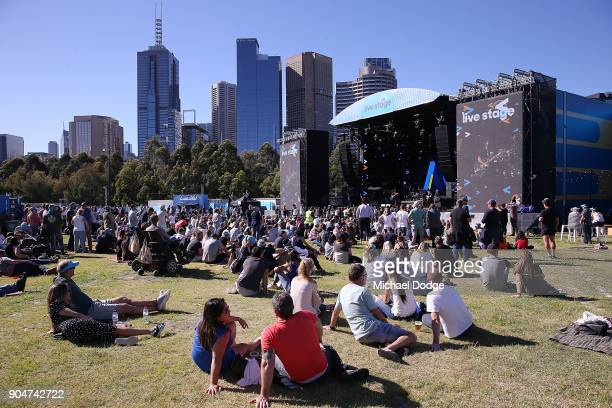 A general view is seen at fight MND concert ahead of the 2018 Australian Open at Melbourne Park on January 14 2018 in Melbourne Australia
