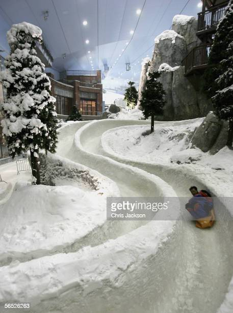 A general view is seen at the press launch of Ski Dubai the worlds largest snowdome at Mall of the Emirates on December 1 2005 in Dubai United Arab...