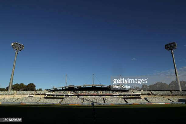 General view is seen before the round two Super RugbyAU match between the Brumbies and the Waratahs at GIO Stadium, on February 27 in Canberra,...
