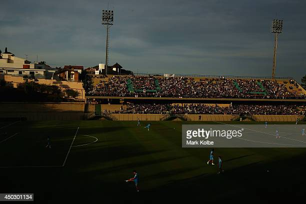 A general view is seen during a Japan training session held at Walter Riberio Stadium on June 8 2014 in Sorocaba Sao Paulo