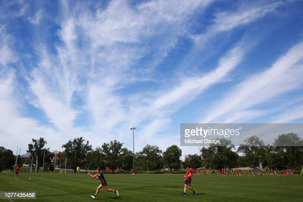A general view is seen during a Melbourne Demons AFL training session at Gosch's Paddock on December 05 2018 in Melbourne Australia