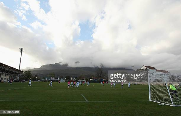 A general view is seen during a practice match between Japan and Zimbabwe at Outeniqua Stadium on June 10 2010 in George South Africa