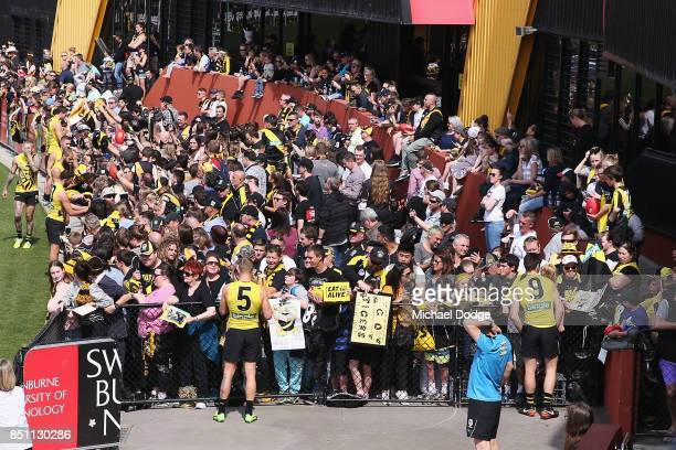 A general view is seen during a Richmond Tigers AFL training session at Punt Road Oval on September 22 2017 in Melbourne Australia
