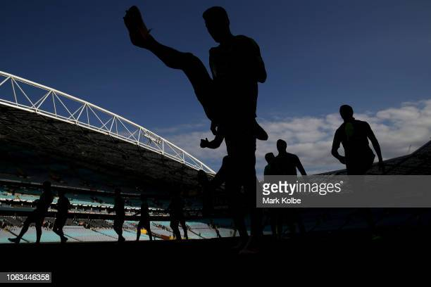 General view is seen during an Australian Socceroos training session at ANZ Stadium on November 19, 2018 in Sydney, Australia.