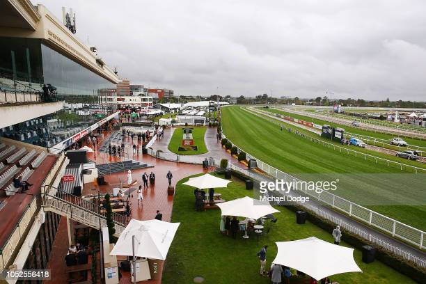 A general view is seen during Caulfield Cup Day at Caulfield Racecourse on October 20 2018 in Melbourne Australia