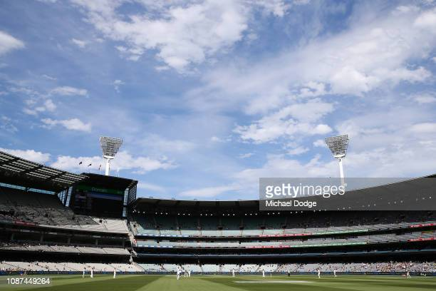 A general view is seen during day three of the Third Test match in the series between Australia and India at Melbourne Cricket Ground on December 28...