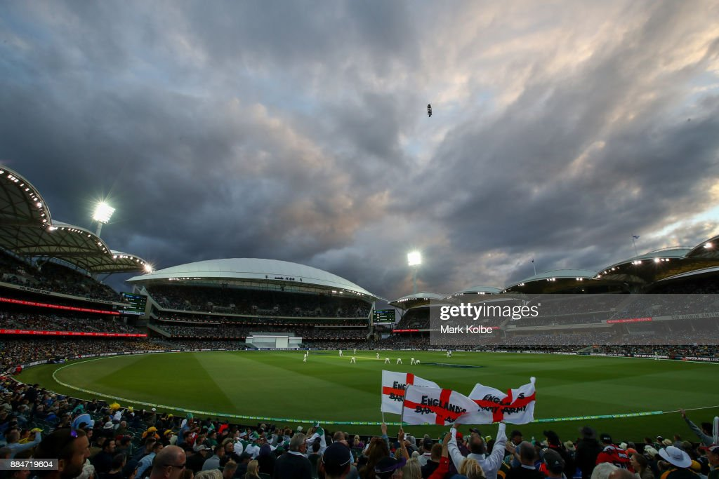 A general view is seen during day two of the Second Test match during the 2017/18 Ashes Series between Australia and England at Adelaide Oval on December 3, 2017 in Adelaide, Australia.