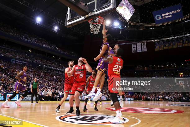General view is seen during game one of the NBL Grand Final series between the Sydney Kings and the Perth WIldcats at Qudos Bank Arena on March 08,...