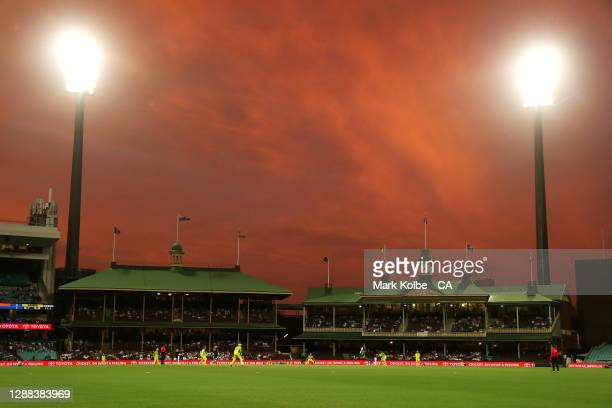 General view is seen during game two of the One Day International series between Australia and India at Sydney Cricket Ground on November 29, 2020 in...
