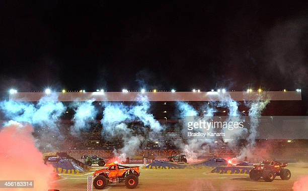 A general view is seen during Monster Jam at Queensland Sport and Athletics Centre on September 27 2014 in Brisbane Australia