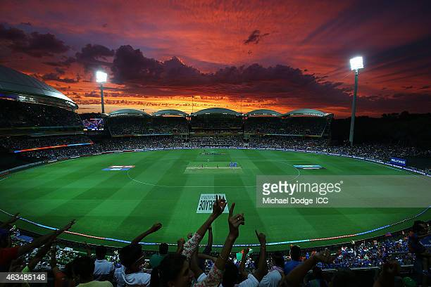 A general view is seen during the 2015 ICC Cricket World Cup match between India and Pakistan at Adelaide Oval on February 15 2015 in Adelaide...