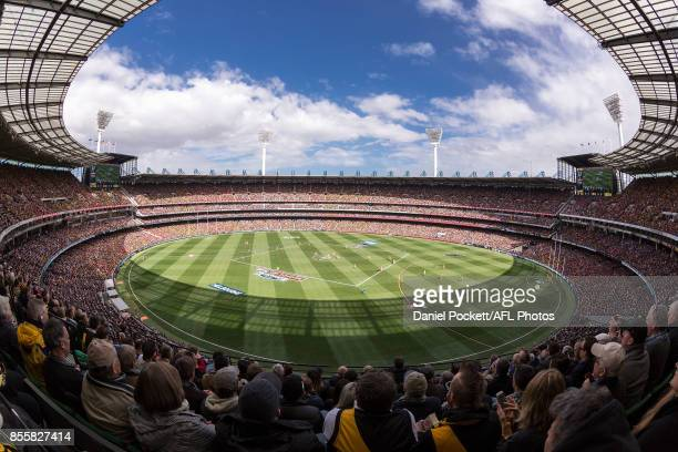A general view is seen during the 2017 AFL Grand Final match between the Adelaide Crows and the Richmond Tigers at Melbourne Cricket Ground on...