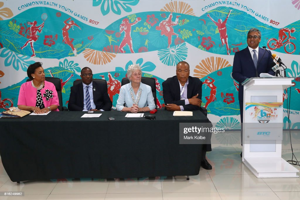 A general view is seen during the 2017 Commonwealth Youth Games Opening Press Conference held at the Thomas A Robinson Stadium on July 17, 2017 in Nassau, Bahamas.