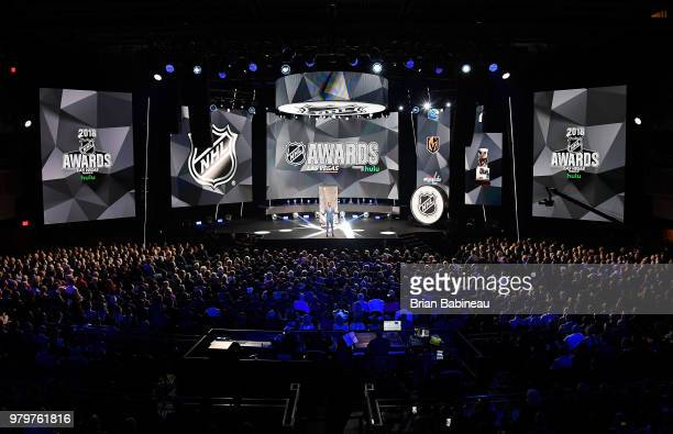 A general view is seen during the 2018 NHL Awards presented by Hulu at The Joint inside the Hard Rock Hotel Casino on June 20 2018 in Las Vegas Nevada