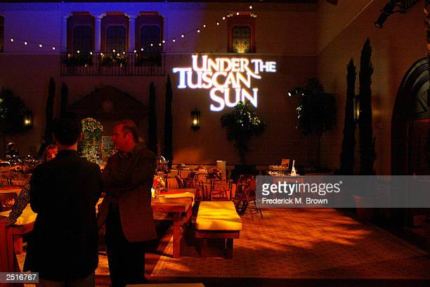A general view is seen during the after party for the film premiere of Under The Tuscan Sun at the Roosevelt Hotel on September 20 2003 in Hollywood...
