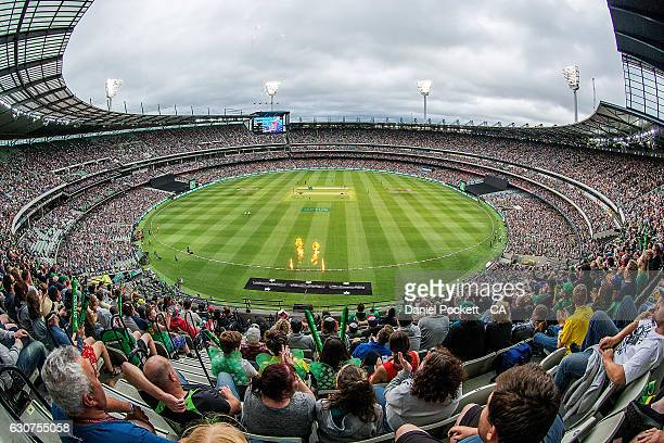 A general view is seen during the Big Bash League match between the Melbourne Stars and Melbourne Renegades at Melbourne Cricket Ground on January 1...