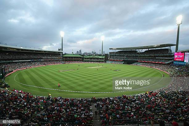 A general view is seen during the Big Bash League match between the Sydney Sixers and the Sydney Thunder at Sydney Cricket Ground on January 14 2017...