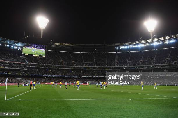 A general view is seen during the Brasil Global Tour match between Brazil and Argentina at Melbourne Cricket Ground on June 9 2017 in Melbourne...