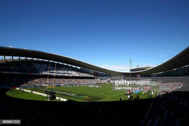 General view is seen during the College Football Sydney Cup match between Stanford University and Rice University at Allianz Stadium on August 27,...