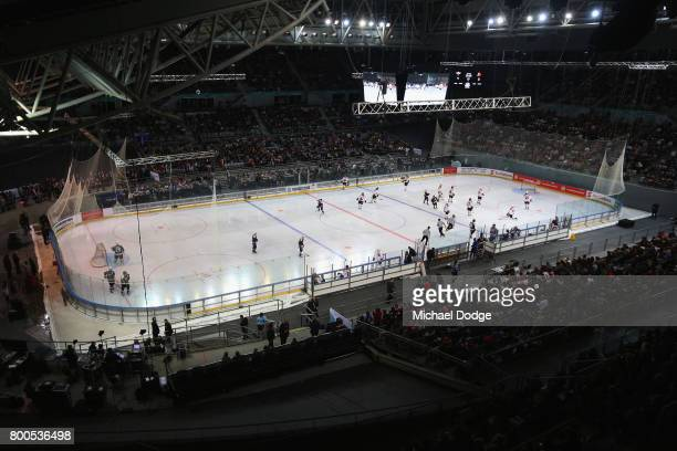A general view is seen during the Ice Hockey Classic match between the United States of America and Canada at Hisense Arena on June 24 2017 in...