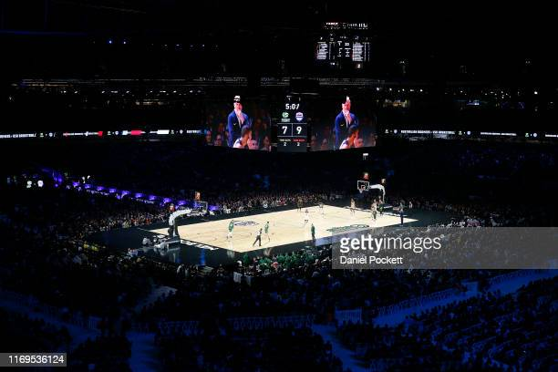 General view is seen during the International Basketball Friendly match between the Australian Boomers and Team USA United States of America at...