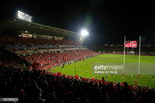 General view is seen during the International Test match between Tonga and Australia at Mount Smart Stadium on October 20, 2018 in Auckland, New...