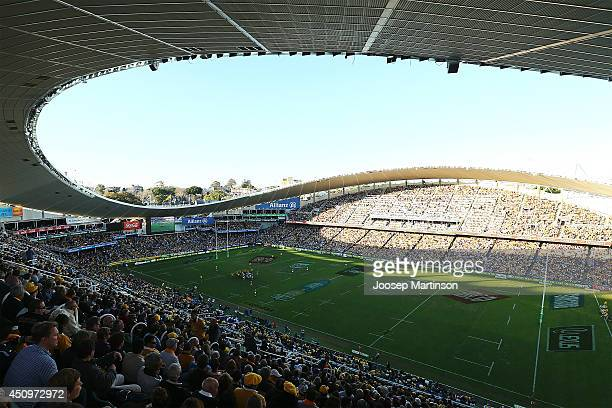A general view is seen during the International Test match between the Australian Wallabies and France at Allianz Stadium on June 21 2014 in Sydney...