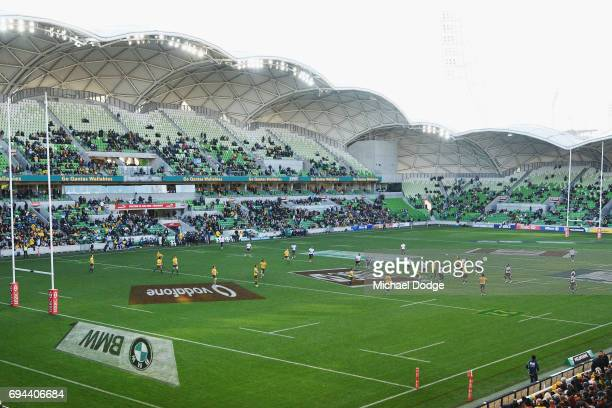 A general view is seen during the International Test match between the Australian Wallabies and Fiji at AAMI Park on June 10 2017 in Melbourne...