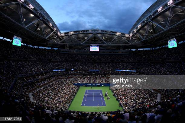 General view is seen during the Men's Singles final match between Rafael Nadal of Spain and Daniil Medvedev of Russia on day fourteen of the 2019 US...