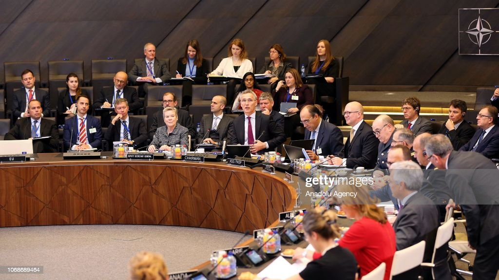 NATO Foreign Ministers' meeting in Brussels : News Photo
