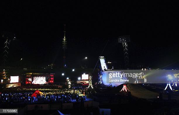 A general view is seen during the Nokia Air Style event at the Olympic stadium on December 2 2006 in Munich Germany