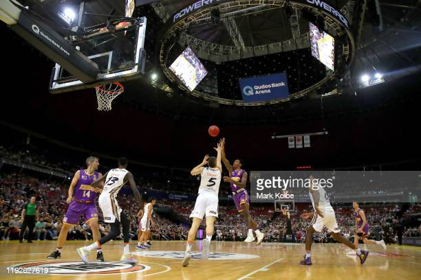 General view is seen during the round 10 NBL match between the Sydney Kings and the Cairns Taipans at Qudos Bank Arena on December 08, 2019 in...