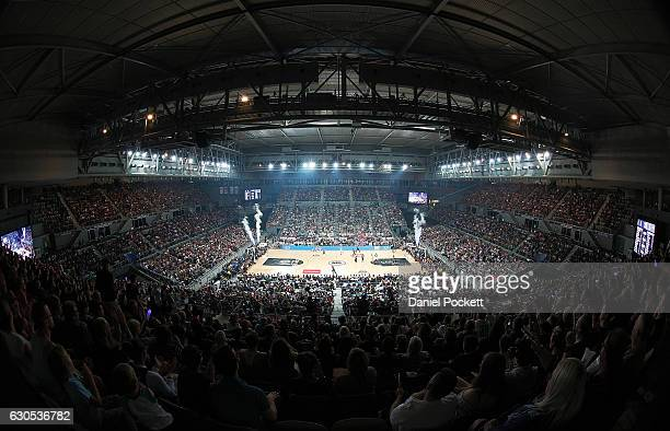A general view is seen during the round 12 NBL match between Melbourne and Brisbane at Hisense Arena on December 26 2016 in Melbourne Australia